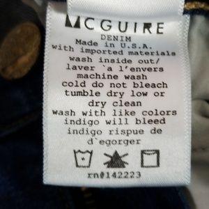 McGuire Denim Jeans - Mcguire distressed raw hem flare leg jeans